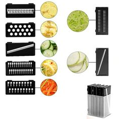 9-in-1 Multi-Functional Mandoline Vegetable Slicer Potato Peeler, Mandolin Slicer, Kinds Of Vegetables, Vegetable Slicer, Vegan Nutrition, Sliced Potatoes, Functional Kitchen, Grater, Group Meals