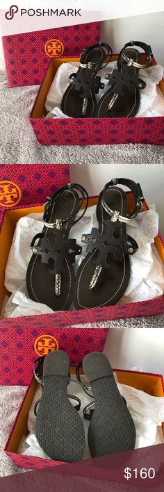 Tory Burch Chandler Sandal in Black/Ivory/Coconut These here Tory sandals are one of my favorite pairs of shoes (I have them in a size 7😉) These have hardly been worn and come with the original box and packaging. No defects in the shoe, just weren't worn enough to keep! Any questions will be answered below in the comments! 💗 Also will ship the same day purchased! Tory Burch Shoes Sandals