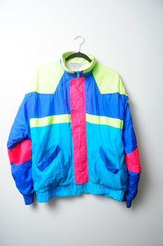 Vintage 80s/90s Neon Bright Colored Wind by LipstickDinosaur