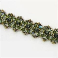 free seed bead bracelet patterns | Mabeline Gidez: Babette Bracelet Pattern