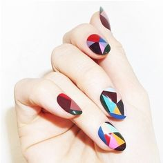 Latest nail art designs 2020 catchy nails images for nail art ideas to improve designs of your nail polish art with the latest nail art designs gallery. Love Nails, How To Do Nails, Fun Nails, Pretty Nails, Dream Nails, Nail Art Designs, Nail Design Glitter, Geometric Nail Art, Geometric Shapes