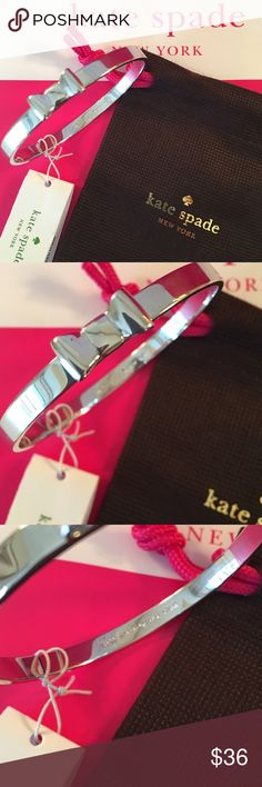 KATE SPADE NEW BANGLE BRACELET 100% AUTHENTIC KATE SPADE NEW WITH TAGS BANGLE BRACELET.  COMES WITH KATE SPADE VELVET JEWELRY POUCH.  FOREVER STYLISH AND FASHIONABLE .  PERFECT FOR ANY OCCASION AND 100% AUTHENTIC kate spade Jewelry Bracelets