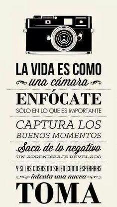 La vida como una cámara fotografica.