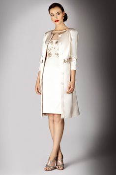 Trapeze Line Coat with dress model shot (click to view larger ...