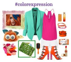 """""""#colorexpression"""" by boho-betty-usa ❤ liked on Polyvore featuring LE3NO, Hallhuber, Casetify, Gucci, Haute Hippie, Sophie Hulme, Kat Maconie, Sarah's Bag, Nesti Dante and Yves Saint Laurent"""
