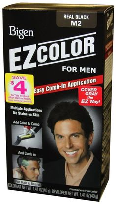 Bigen EZ Color Hair Color for Men - Real Black Kit (Pack of 2) *** Learn more by visiting the image link. #hairdressing