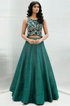 Shop Mrunalini Rao Embroidered Lehenga Set , Exclusive Indian Designer Latest Collections Available at Aza Fashions Sari Blouse Designs, Fancy Blouse Designs, Choli Designs, Designer Bridal Lehenga, Bridal Lehenga Choli, Indian Designer Outfits, Designer Dresses, Indian Dresses, Indian Outfits