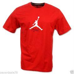 on sale 5f650 3a615 MEN S SIZE LARGE NIKE JORDAN JUMPMAN FLIGHT BASKETBALL T-SHIRT RED WHITE  BLACK Nike Jordan