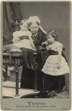 Queen Victoria and two of her grandchildren.