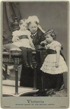 Queen Victoria and two of her grandchildren.