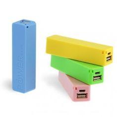 Bateria Externa 2600 mAh | Con este cargador portátil para móviles podrás cargar la batería de tu movil  de forma rápida y sencilla. Debido a su reducido tamaño podrás llevarla en cualquier sitio.... http://tusmoke.com/novedades/163-bateria-externa-2600-mah-power-bank-.html