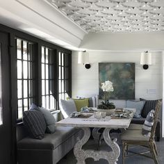 Creating cozy nooks that could be repurposed for a variety of functions was one of the many design highlights of the home for Joanna Goodman, director of interiors at Christopher Architecture and Interiors.