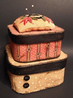 Hey, I found this really awesome Etsy listing at https://www.etsy.com/listing/244441439/primitive-fabric-covered-box-set-with