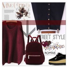 """""""Romwe 1/ 10"""" by emina-095 ❤ liked on Polyvore featuring Oxford and Handle"""