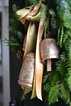Holiday Housewalk Christmas Tour 2018 - At The Picket Fence Country Christmas Decorations, Christmas Porch, Christmas Time Is Here, Farmhouse Christmas Decor, Black Christmas, Merry Little Christmas, Christmas Bells, Outdoor Christmas, Rustic Christmas