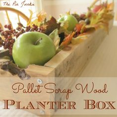 The Pin Junkie: DIY Rustic Planter Box Made From A Pallet