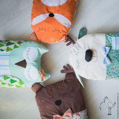 Купить Бортики в кроватку - комбинированный, бортики в кроватку, бортики в детскую кровать, бортики подушки