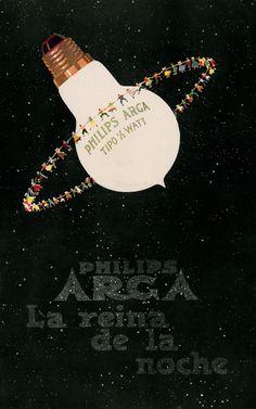 vintage Philips light bulb advertisement