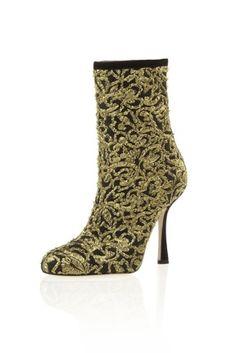 The Mon Mode Blog - Brocade ankle boots by Oscar De La Renta