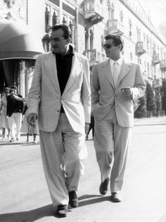 Luchino Visconti e Marcello Mastroianni .Visconti directed Rocco and his Brothers, Death in Venice and the magnificent The Leopard among others.