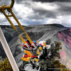 The Giant Canyon Swing at Glenwood Caverns Adventure Park - by Heidi Kerr-Schlaefer, www.HeidiTown.com