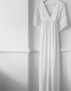 maxi lace dress.