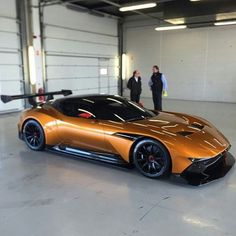 Burnt orange Aston Martin Vulcan