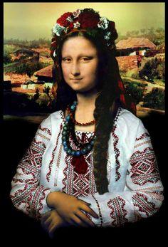 """Джоконда-украинка (из камментов: """"Чем больше читаю ваш подсайт, тем больше начинаю понимать украинский. Боюсь что, скоро чуб расти начнет"""")"""