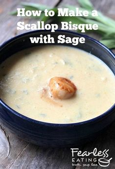 Sea scallops make not just an exquisite scallop bisque but also an easy one! Because the large, buttery meats come pre-shelled, all you need to do is add them to a shellfish stock, puree it all together and add additional herbs, rice, cream and seasonings. You can have it all ready within a half hour!  #seafoodsoups #souprecipes #seafoodrecipes #scalloprecipes  #bisque #bisquerecipes Easy Cooking, Cooking Recipes, Seafood Soup Recipes, Bisque Recipe, Bless The Food, Lobster Bisque, Sea Scallops, Famous Recipe, Shelled