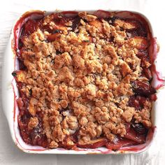 Peach Crumble Recipe & Video | Martha Stewart
