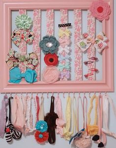 Bow & Headband organizer by LittleLovesCreation on Etsy, $30.00