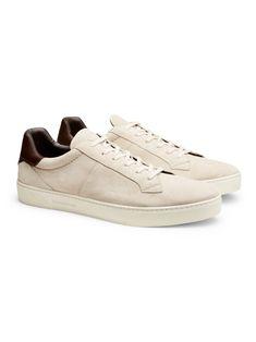 Sneakers Vittorio Pelle Avorio Scuro
