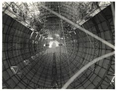 Photograph of the Interior Hull of a Dirigible before Gas Cells were Installed, ca. 1933