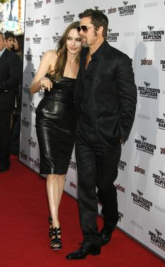Brad and Angelina walk the red carpet for 'Inglourious Basterds' in 2009