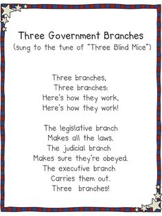 3 branches of government song - Teaching Government & Elections {Weekend Links} from HowToHomeschoolMyChild.com