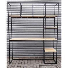 Steel Furniture, Diy Furniture, Furniture Design, Best Closet Organization, Diy Room Divider, Shelving Design, House Plants Decor, Home Room Design, Closet Designs