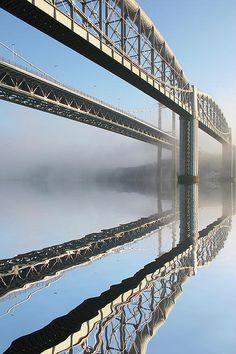 Tamar Road Bridge And Brunel Rail Bridge