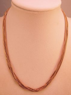 Marks and Spencer (M&S) 7 Strand Gold Tone Necklace c1980-90s by thejeweledbear on Etsy