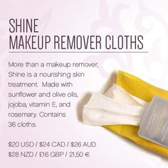 Our shine wipes are perfect to take ur makeup off after a hard day, no need to worry about cleanse, tone and moisturise as these wipes have it all and even remove the toughest makeup in one wipe #SazziDivad