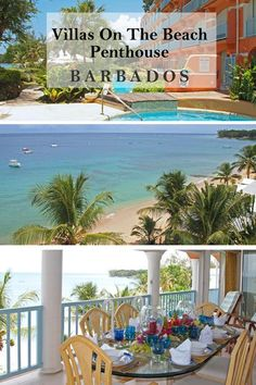 Vacation in style at this stunning Barbados beachfront penthouse with panoramic ocean views and lagoon style swimming pool.