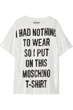 Moschino | Sequined crepe de chine top | NET-A-PORTER.COM