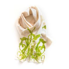 Rorschach Inspired Scarf using Yarn!  So creative and educational.  By It Was Weekend for Scarf Week 2015