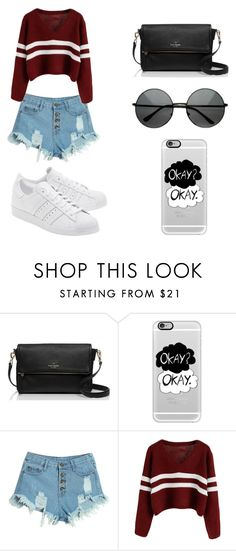 """Untitled #81"" by karenrodriguez-iv on Polyvore featuring Kate Spade, Casetify, WithChic, adidas Originals, women's clothing, women, female, woman, misses and juniors"