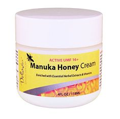 Amazon.com : Deluvia Manuka Honey Cream UMF 16+ (4oz) Enriched with 100% UMF 16+ Active Manuka Honey & the Most Potent Organic Aloe in the World. Effectively soothes dry, irritated or problem skin. : Beauty