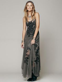 Free People Darya Mesh Embroidered Maxi from Free People. Saved to Epic Wishlist. #dresses #womens #freepeople.