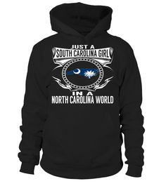 South Carolina Girl in a North Carolina World State T-Shirt #SouthCarolinaGirl