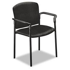 Pagoda 4070 Series Stacking Arm Chairs, Black Tectonic Fabric, 2/carton