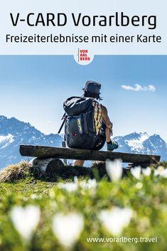 Mit der V-CARD mehr als 80 Ausflugsziele in Vorarlberg besuchen - vom 1. Mai bis 31. Oktober. Mit dabei sind Bergbahnen, Museen, Hallen- und Freibäder sowie weitere Attraktionen. Jahr für Jahr kommen neue Ziele dazu. 1 Mai, Berg, Places To Travel, Summer Days, Helpful Tips, Families, Road Trip Destinations, October, Destinations