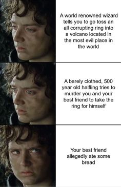I hate this 😭 but they're not wrong 😭 Lotr, Concerning Hobbits, J. R. R. Tolkien, Funny Memes, Jokes, Into The West, Fandoms, Geek Out, Middle Earth