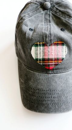 51668ffa19a DIY Flannel Heart No-Sew Baseball Hat